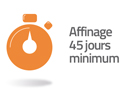 affinage 45 jours minimum